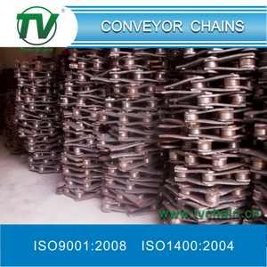 Narrow Series Welded Chains with Bent Plates