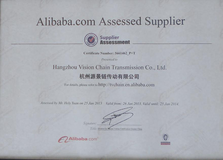 TV CHAIN passed Alibaba supplier assessment