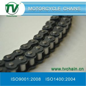 Blue motorcycle chain