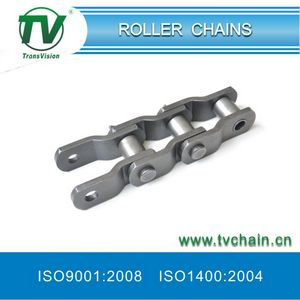 Overloaded Roller Chain with Curved Plates